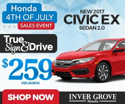 New 2017 Civic EX 1.5T Special