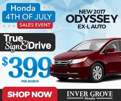 New 2017 Honda Odyssey EX-L Special