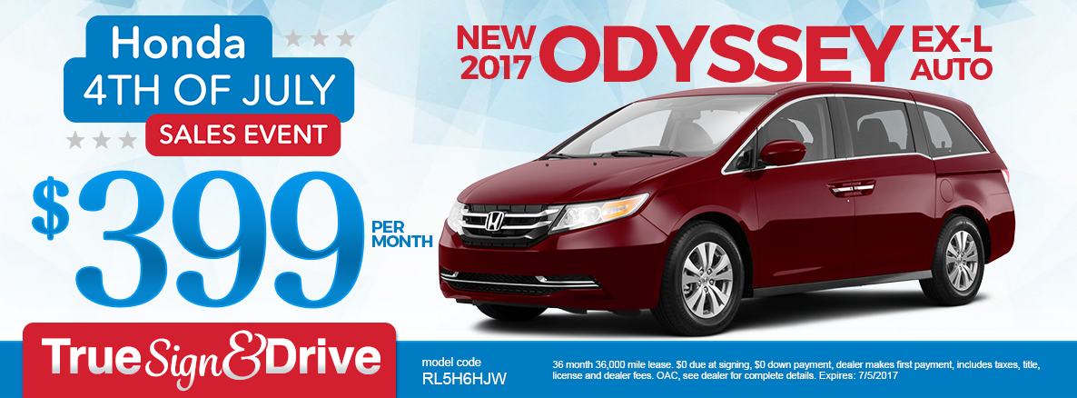 2017 Odyssey Lease Special