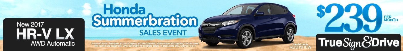 New 2017 Honda HR-V LX Lease Special