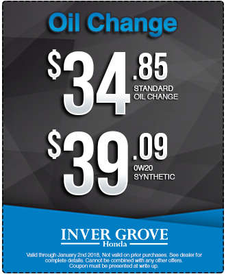 Oil Change Specials >> Igh December Oil Change Special Inver Grove Honda