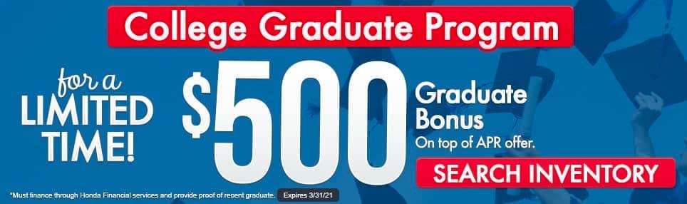 Honda College Graduate Special