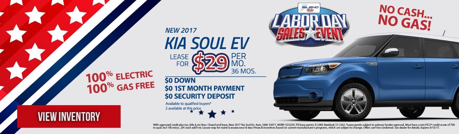 Island Kia Labor Specials_Soul Ev