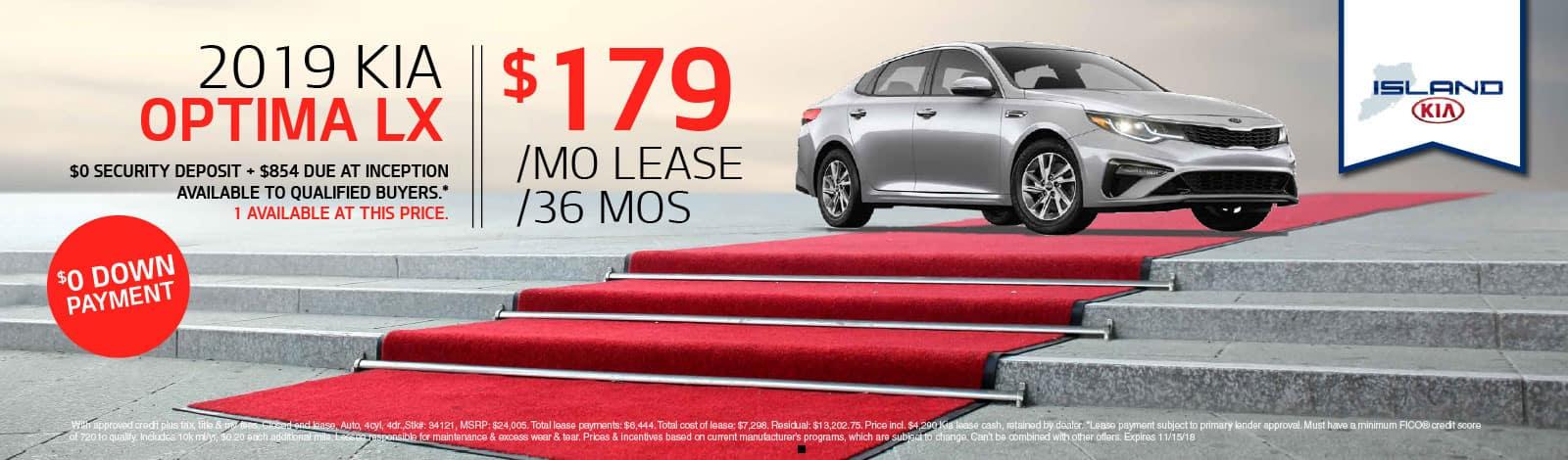 kia optima lease special