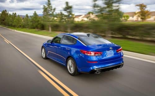 Blue 2019 Kia Optima