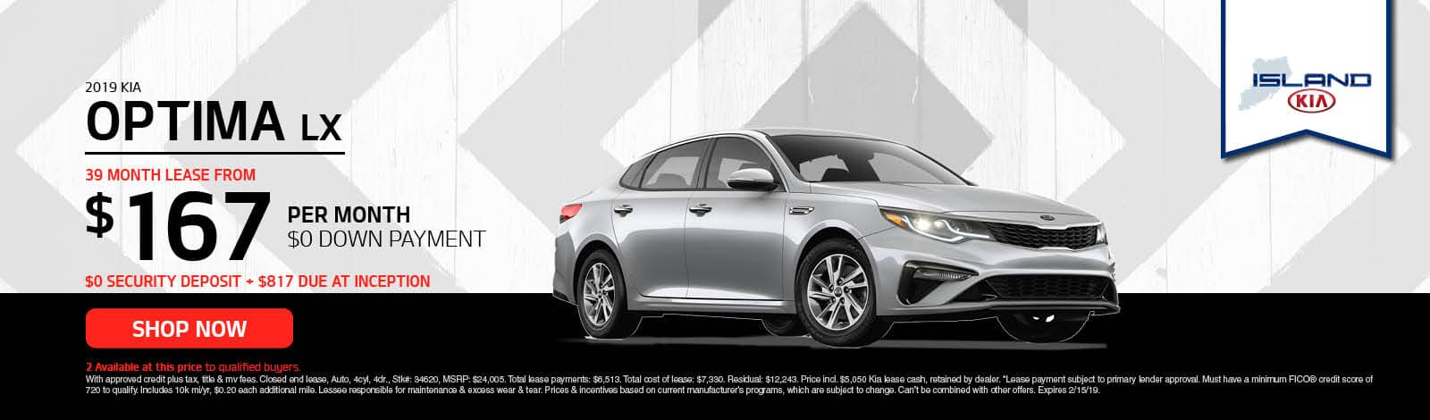 kia optima lease special
