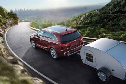 Kia Sorento Towing Camper