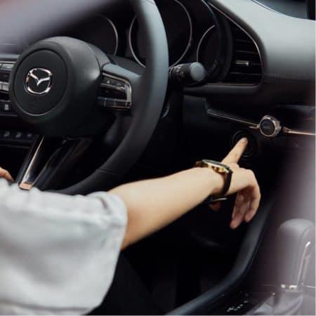 Interior of New Mazda