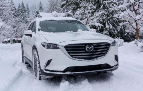 Mazda CX-9 SUV in Snow