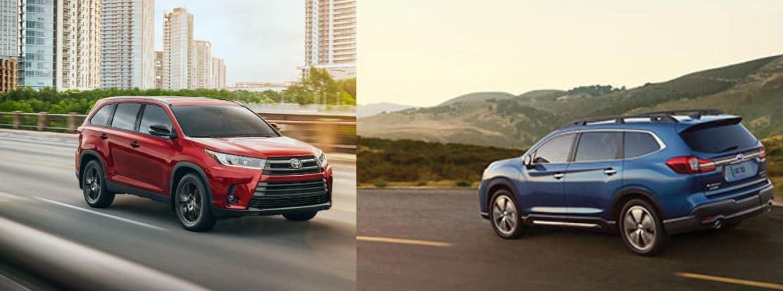 Toyota Highlander vs Subaru Ascent