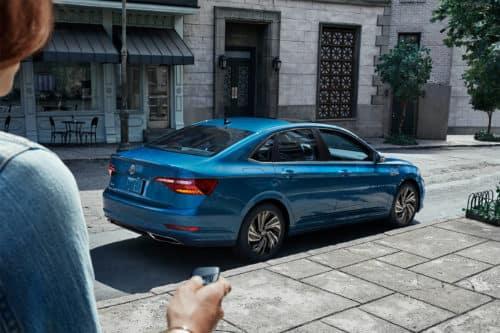 Blue Volkswagen Jetta in Staten Island