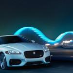 Jaguar XF driving