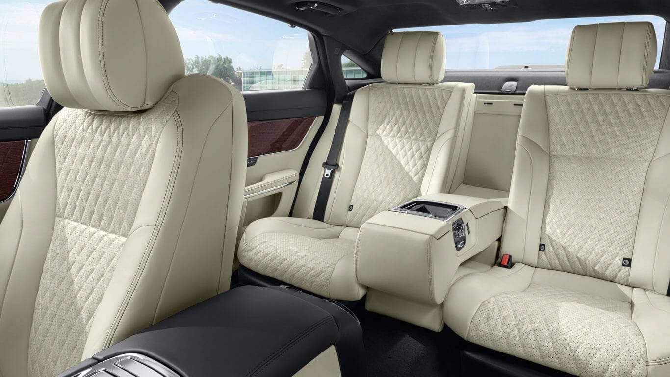 2017 Jaguar XJ Rear Interior Seating