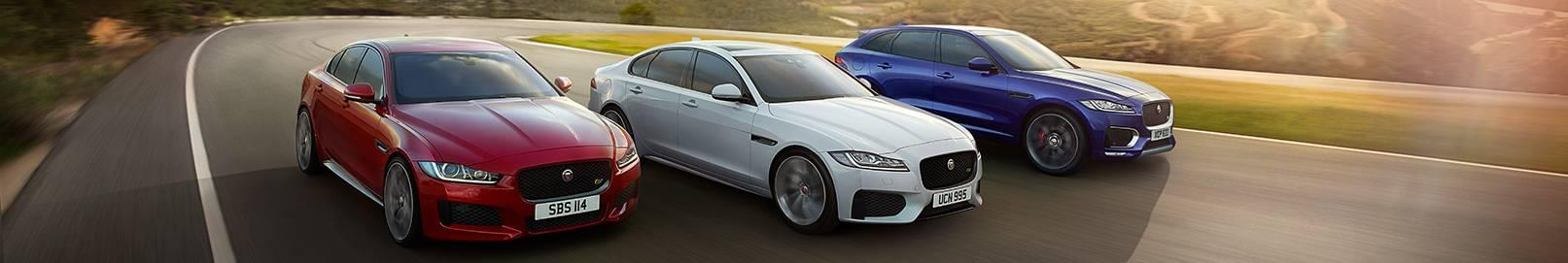 Jaguar Line up Driving