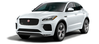 Photo of a white Jaguar E-Pace