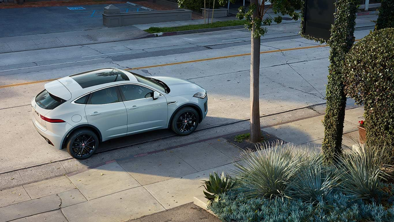 2018 Jaguar E-PACE parked on side of street