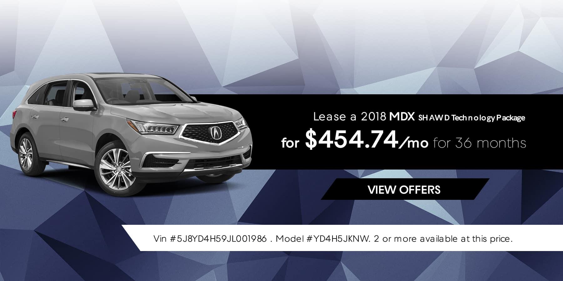 MDX January Offer Jeffrey Acura