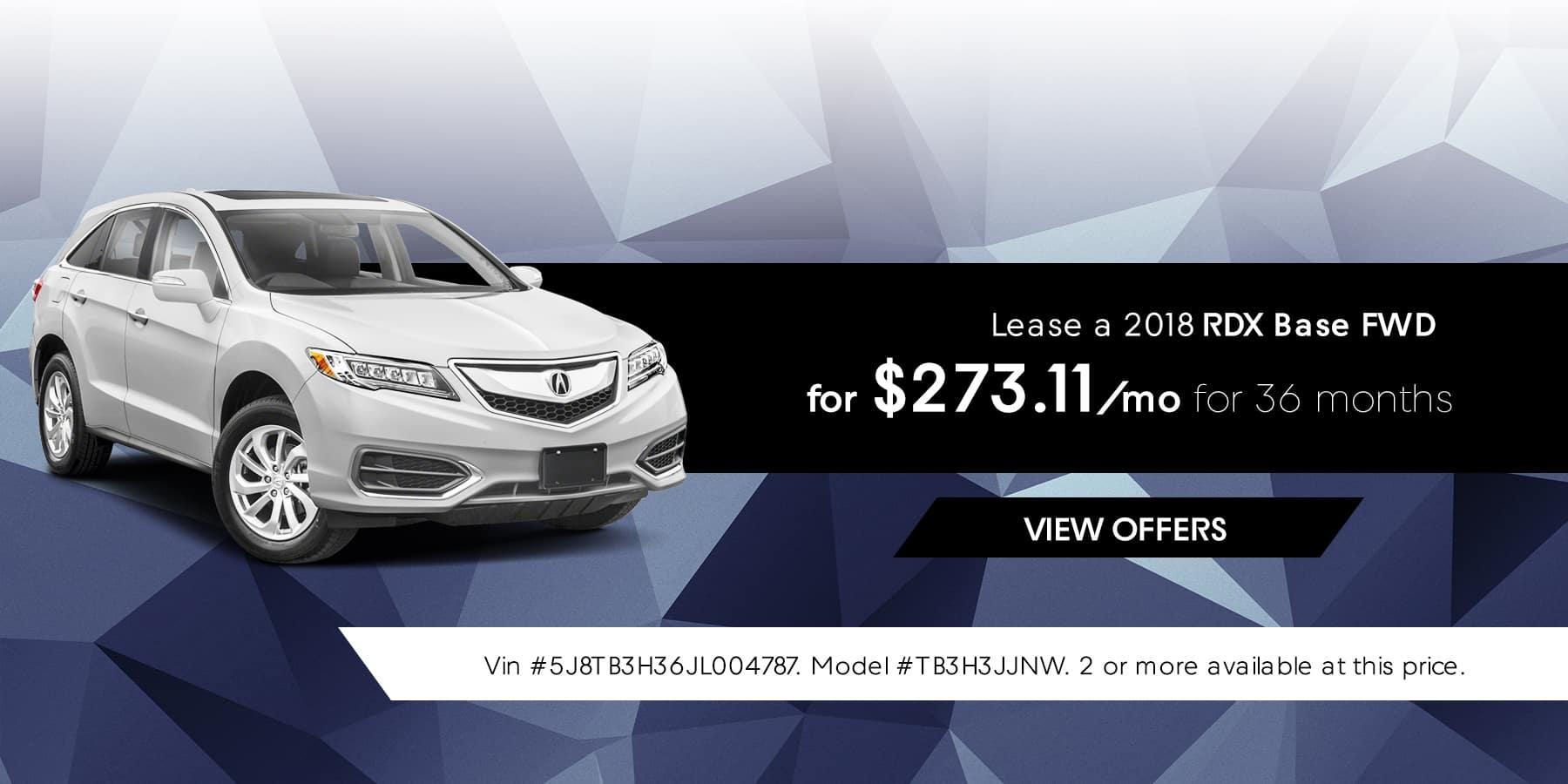 RDX January Offer Jeffrey Acura