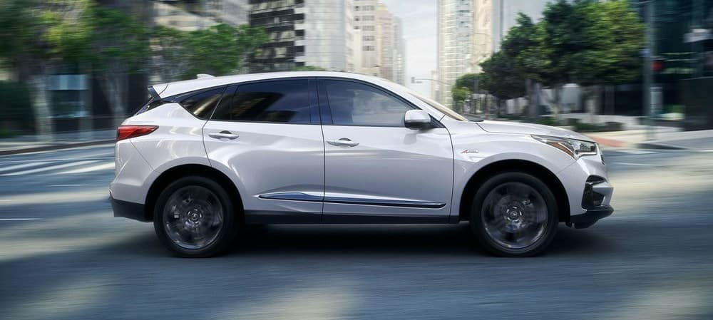 2019 Acura RDX White Side View