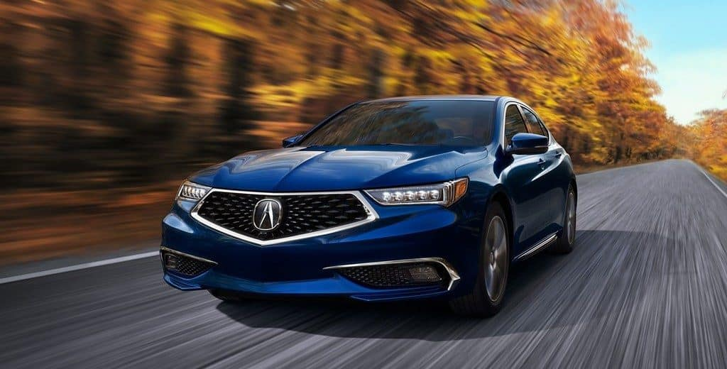 2019 Acura TLX Blue Front View