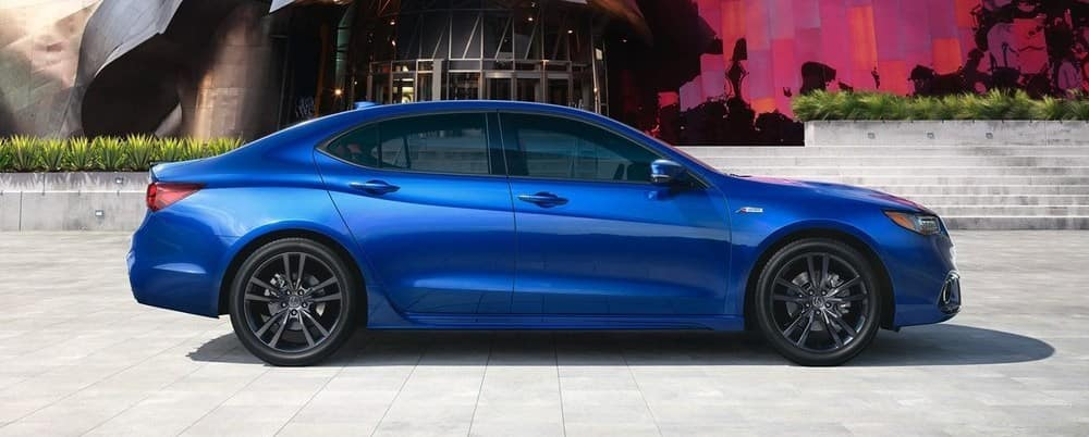 2019 Acura TLX Blue Side View