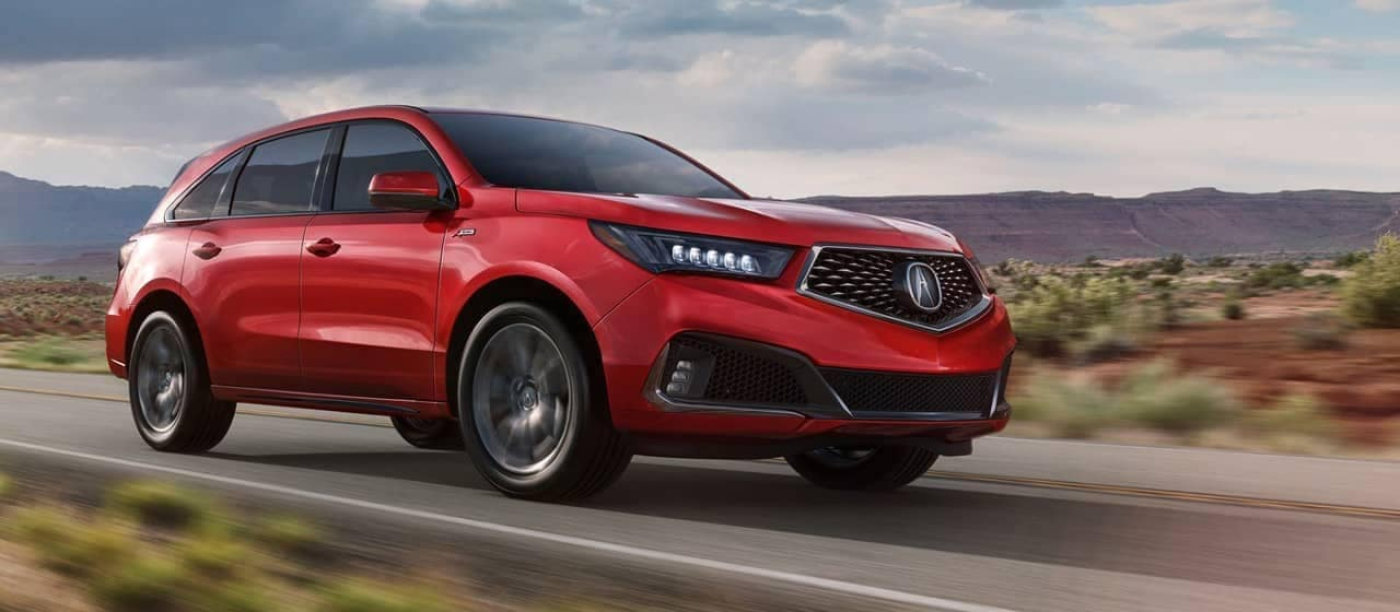 2019 Acura MDX A-Spec in Red Pearl