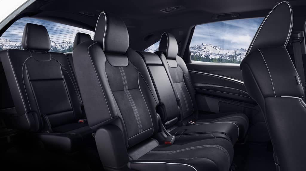 seating in 2019 Acura MDX