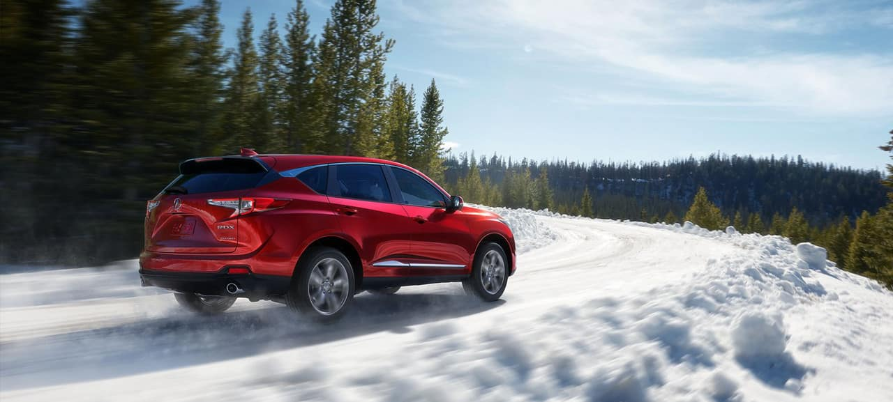 2019 Acura RDX SH-AWD on snowy road