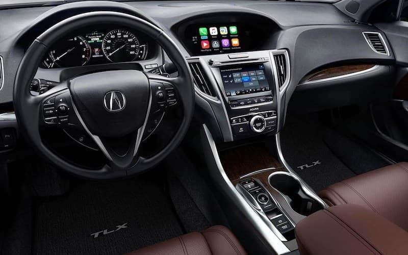 2019 Acura TLX Interior in brown leather.