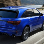 2019 Acura MDX in Blue on the Road