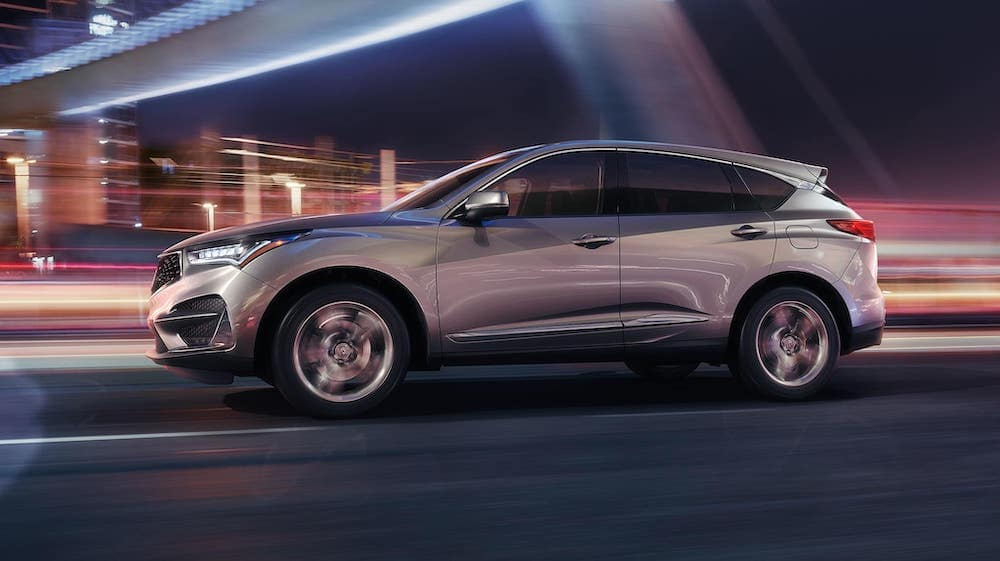 2019 RDX with Advance Package at night