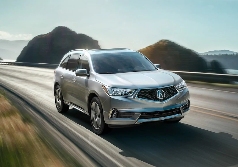 2019 Acura MDX with Advance Package on the road