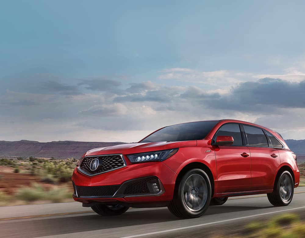 2020 Acura MDX on the Road