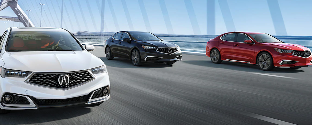 2020 TLX models on the road