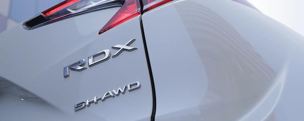 2020 RDX nameplate