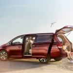 2016 Honda Odyssey red exterior model side view