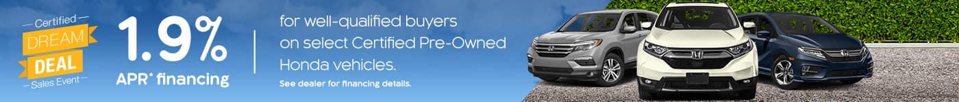 Jeffrey Honda Certified Dream Deal