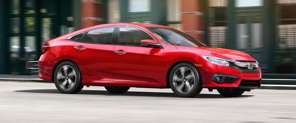 2018 Honda Civic Red Driving