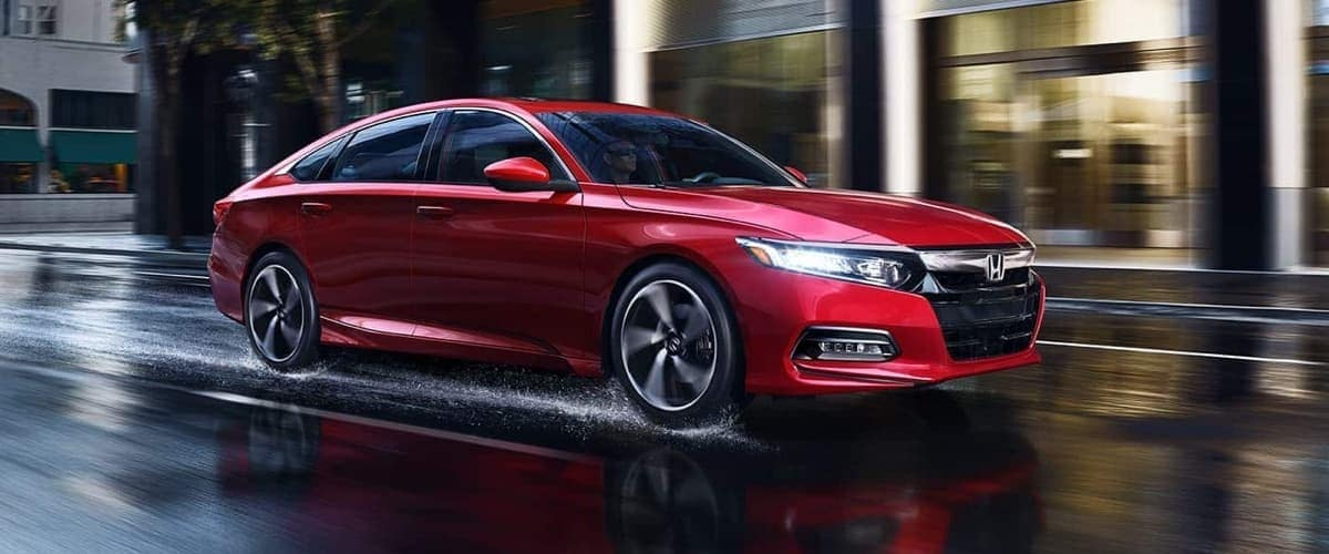 2019 Honda Accord driving on wet road