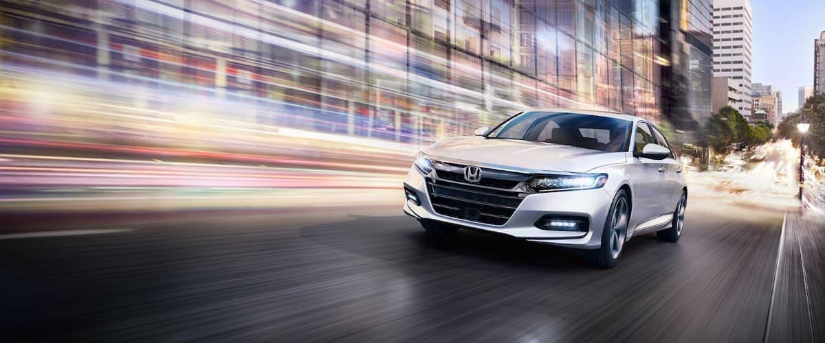 2019 Honda Accord blurring lights in background