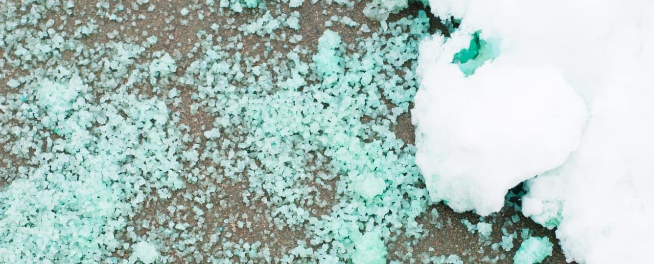 road salt - ice melt agent
