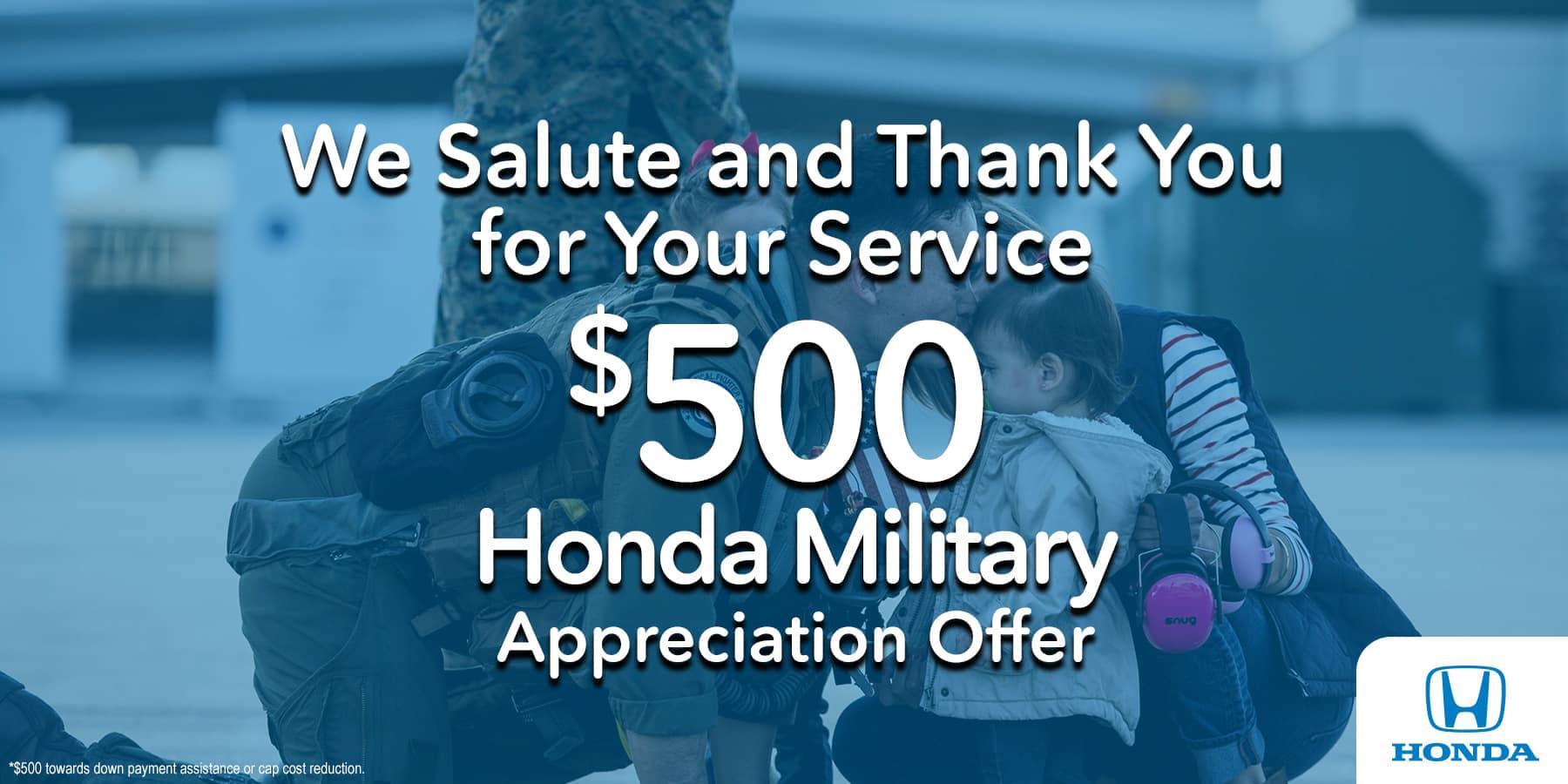 Honda Military Discount