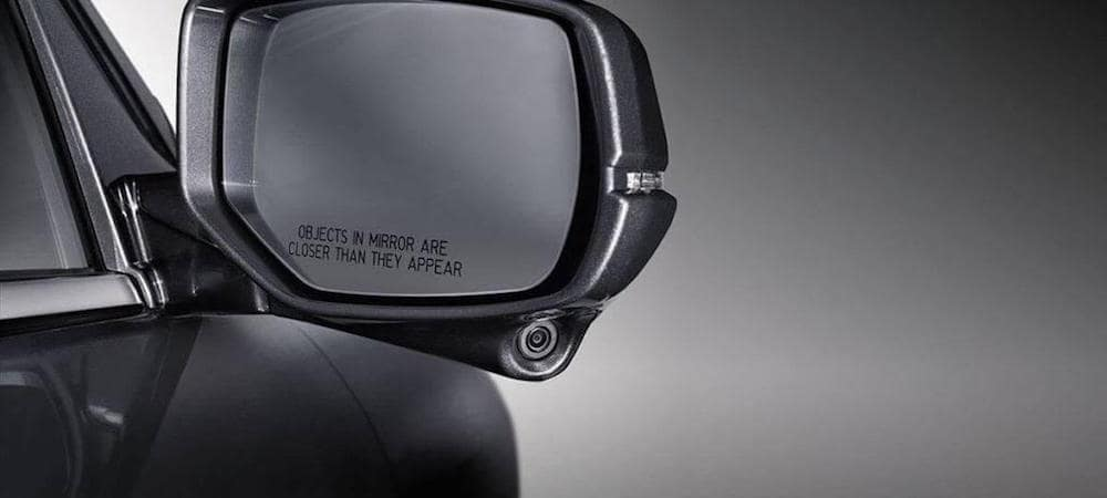 Sideview mirror of Honda Accord sedan equipped with LaneWatch