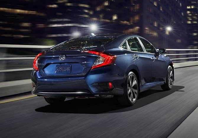 2019 Honda Civic on the road