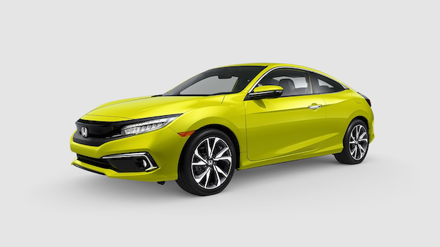 2019 Civic Coupe Tonic Yellow