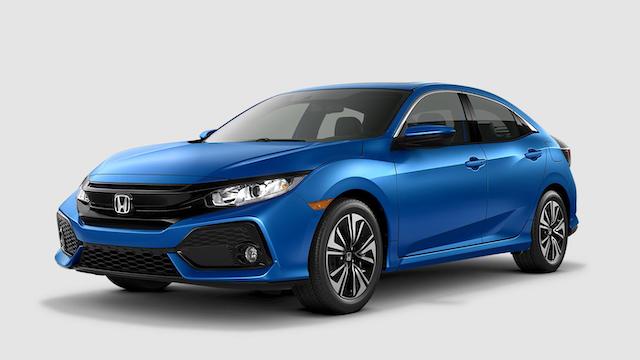 2019 Civic Hatchback Aegean Blue