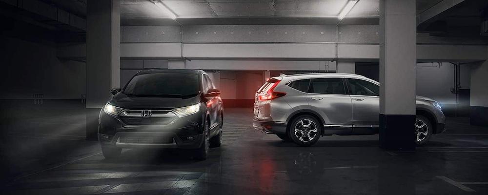 Parked 2019 Honda CR-V models