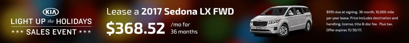 Sedona LX November Offer Jeffrey Kia