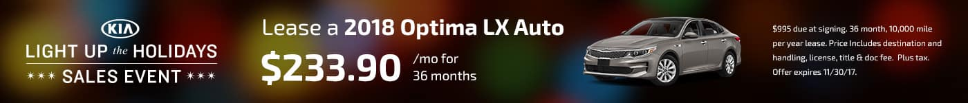 2018 Optima November Offer Jeffrey Kia