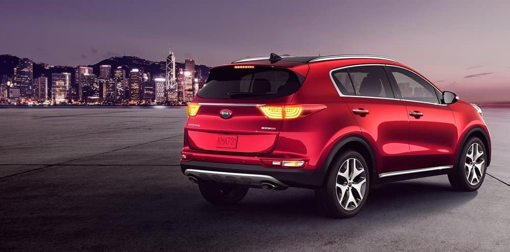 2019 Kia Sportage Red Parked
